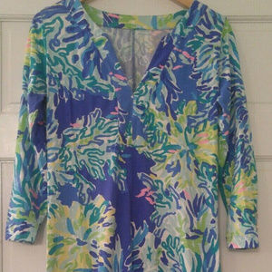 Lilly Pulitzer RIVA Brilliant Blue WADE AND SEA M